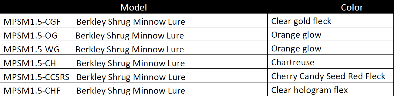 Berkley Powerbait Shrug Minnow 1.5